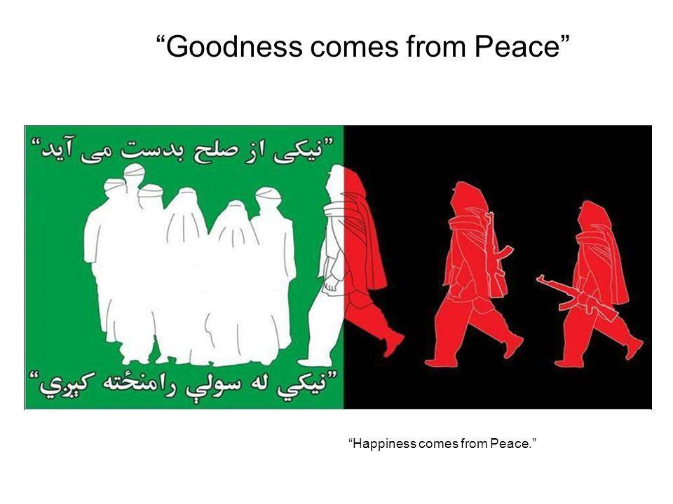 Goodness comes from Peace