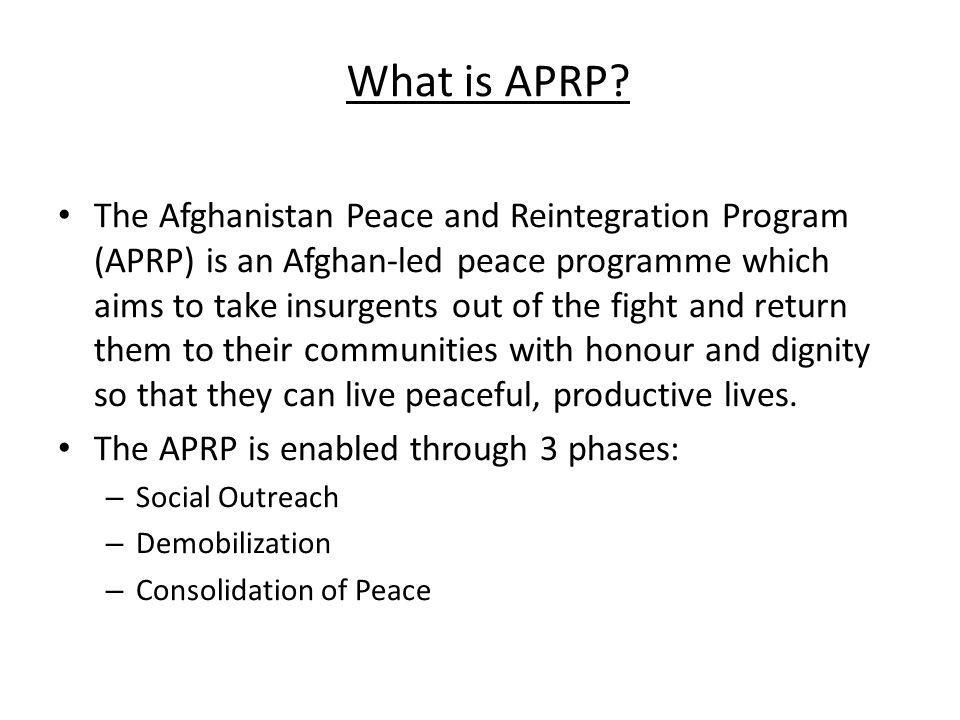 What is APRP