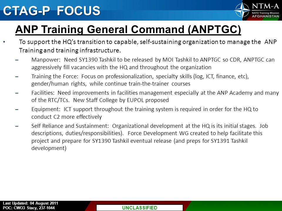 CTAG-P FOCUS ANP Training General Command (ANPTGC)