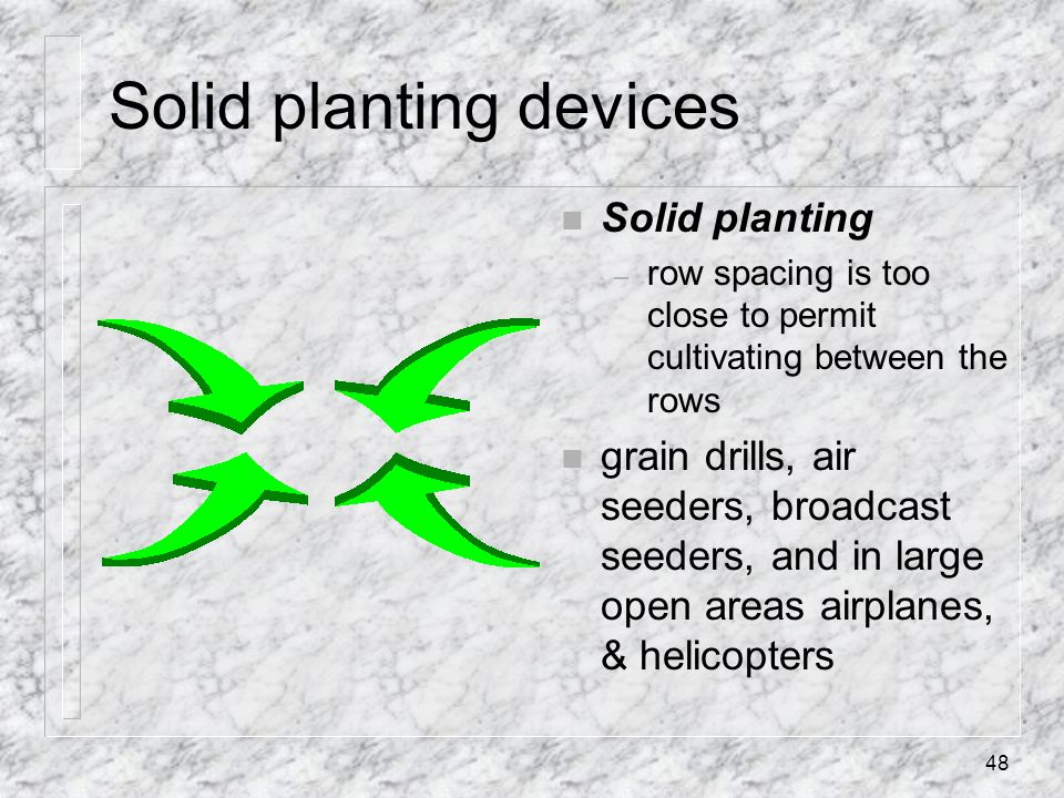 Solid planting devices