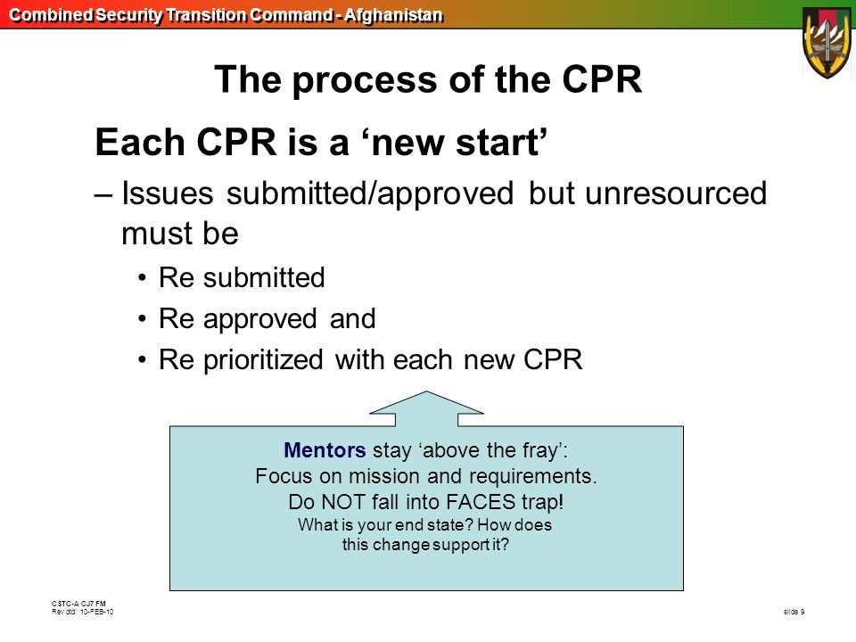 Each CPR is a 'new start'