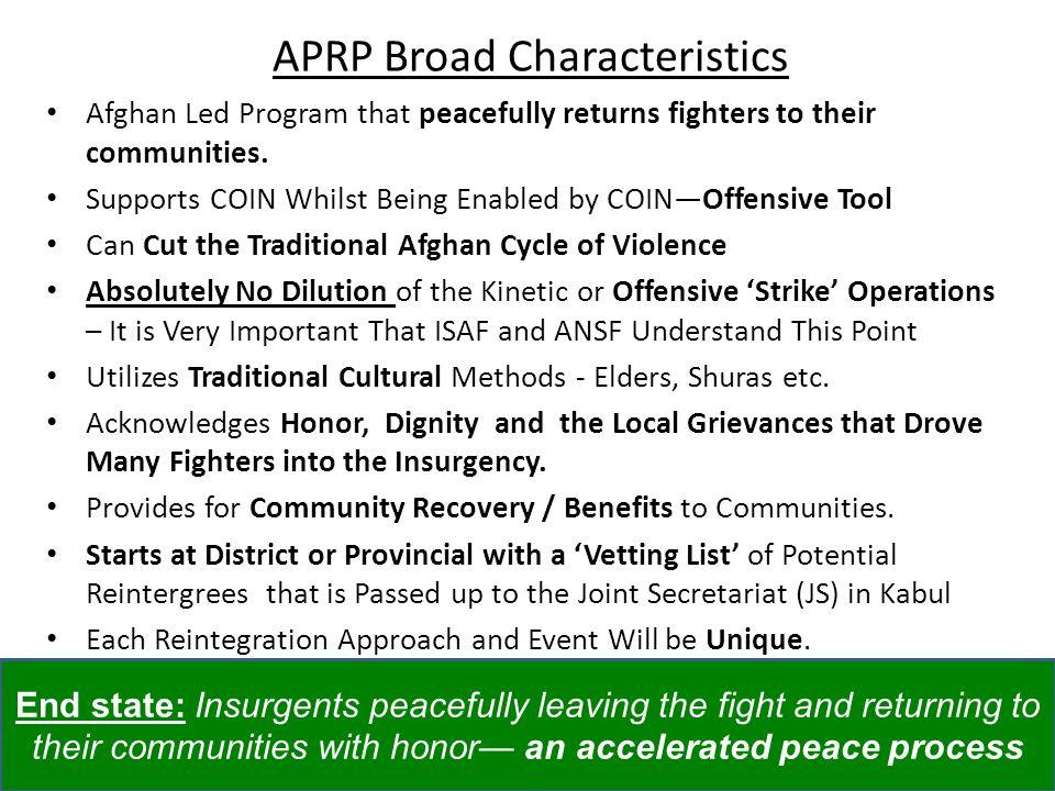 APRP Broad Characteristics