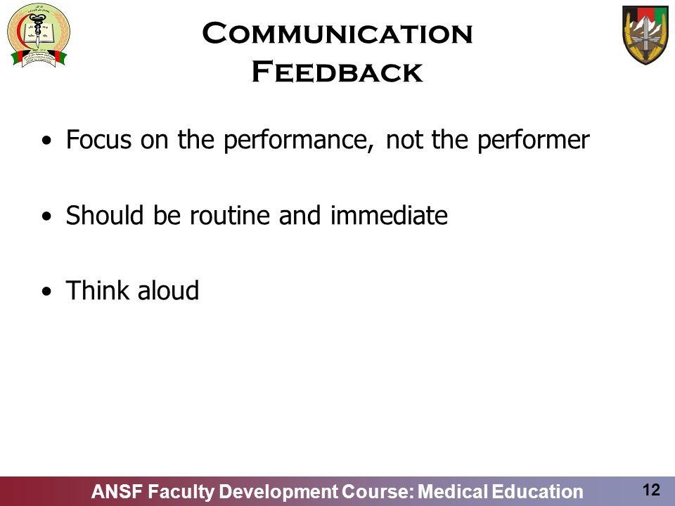Communication Feedback