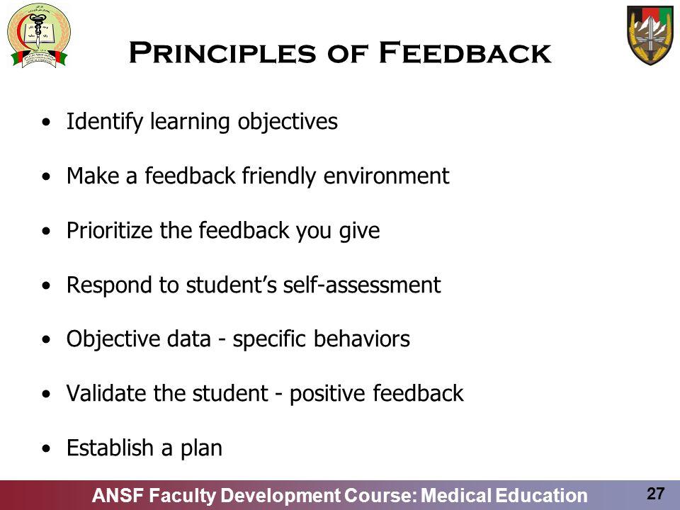 Principles of Feedback
