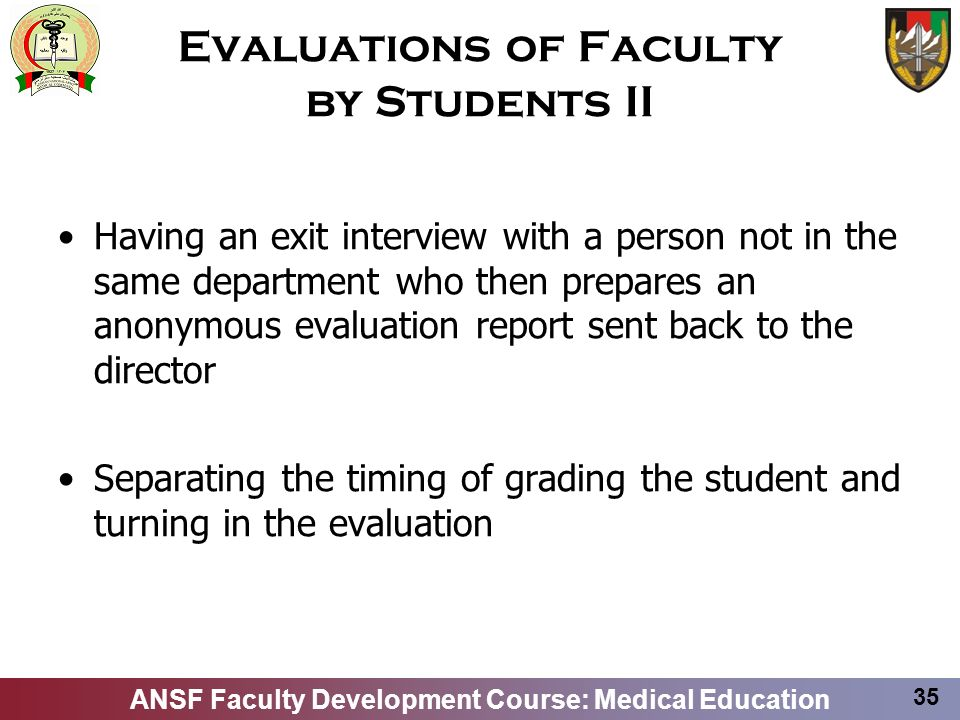 Evaluations of Faculty by Students II