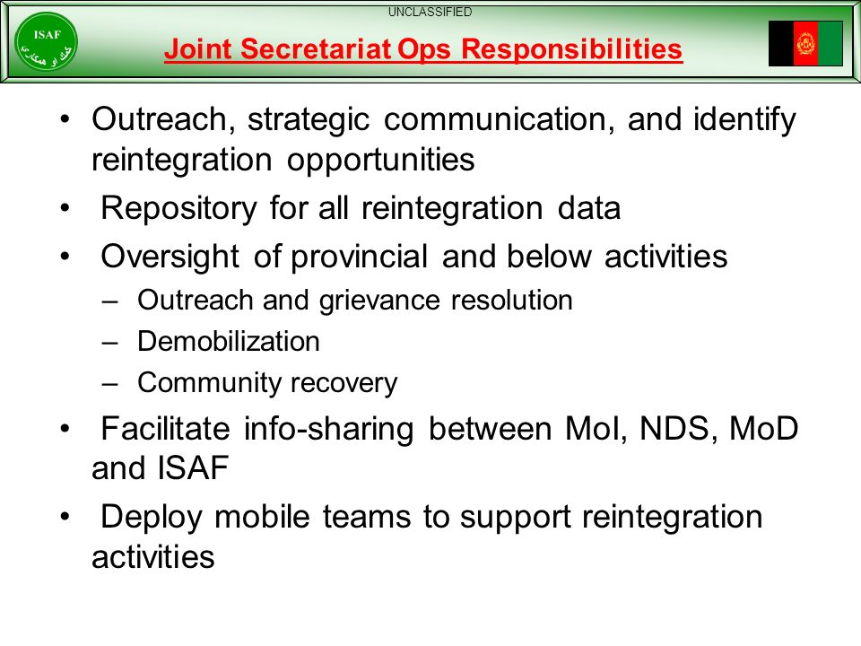 Joint Secretariat Ops Responsibilities
