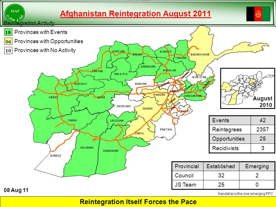 Afghanistan Reintegration August 2011