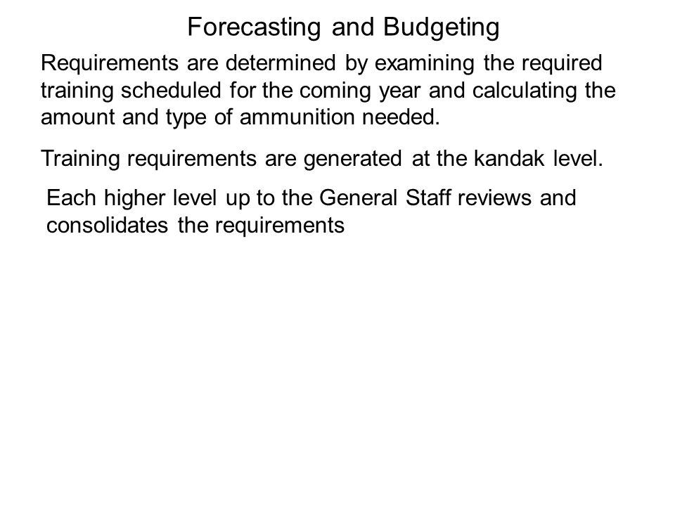 Forecasting and Budgeting
