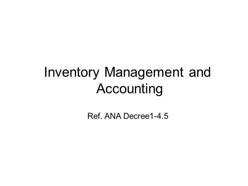 Inventory Management and