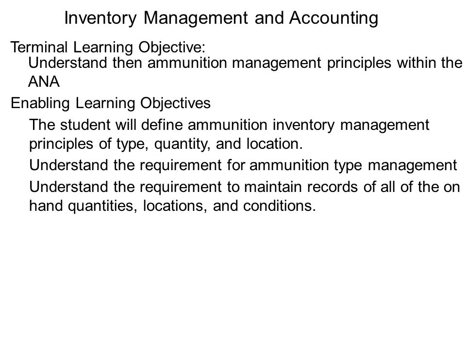 Inventory Management and Accounting