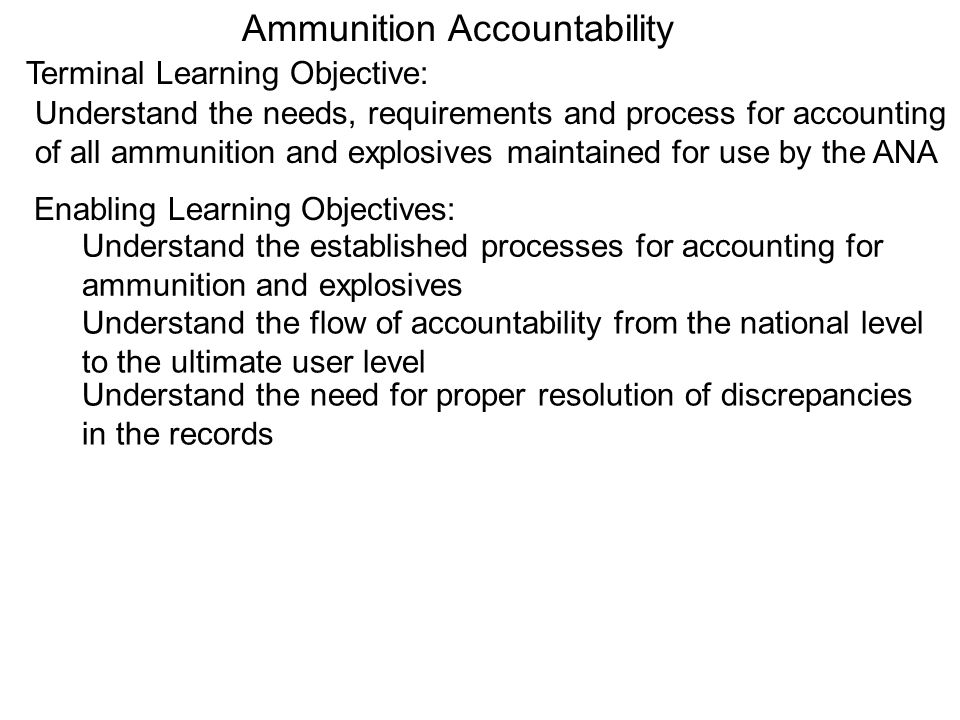 Ammunition Accountability