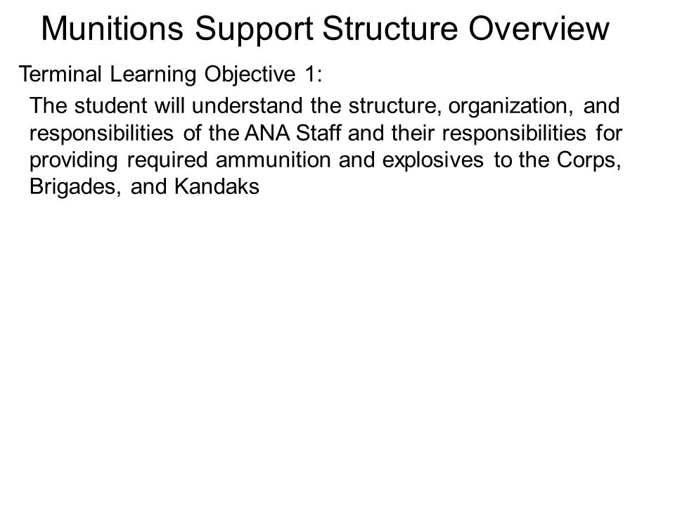 Munitions Support Structure Overview