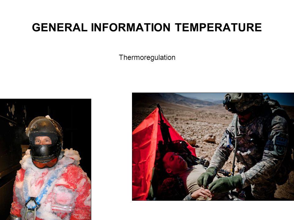 GENERAL INFORMATION TEMPERATURE