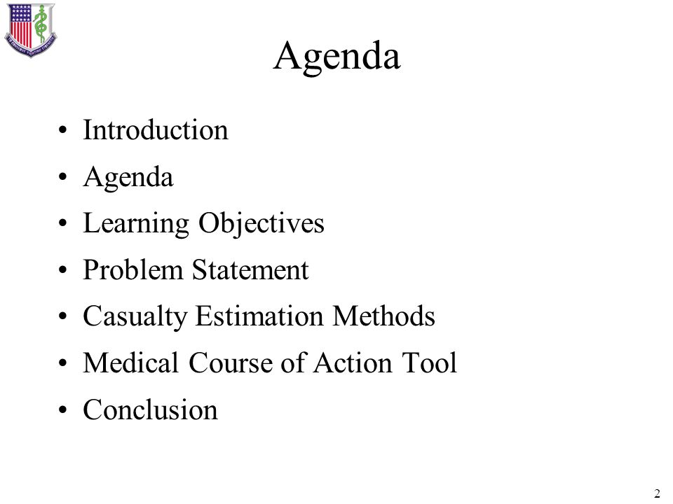 Agenda Introduction Agenda Learning Objectives Problem Statement