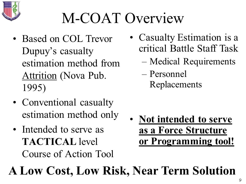 A Low Cost, Low Risk, Near Term Solution