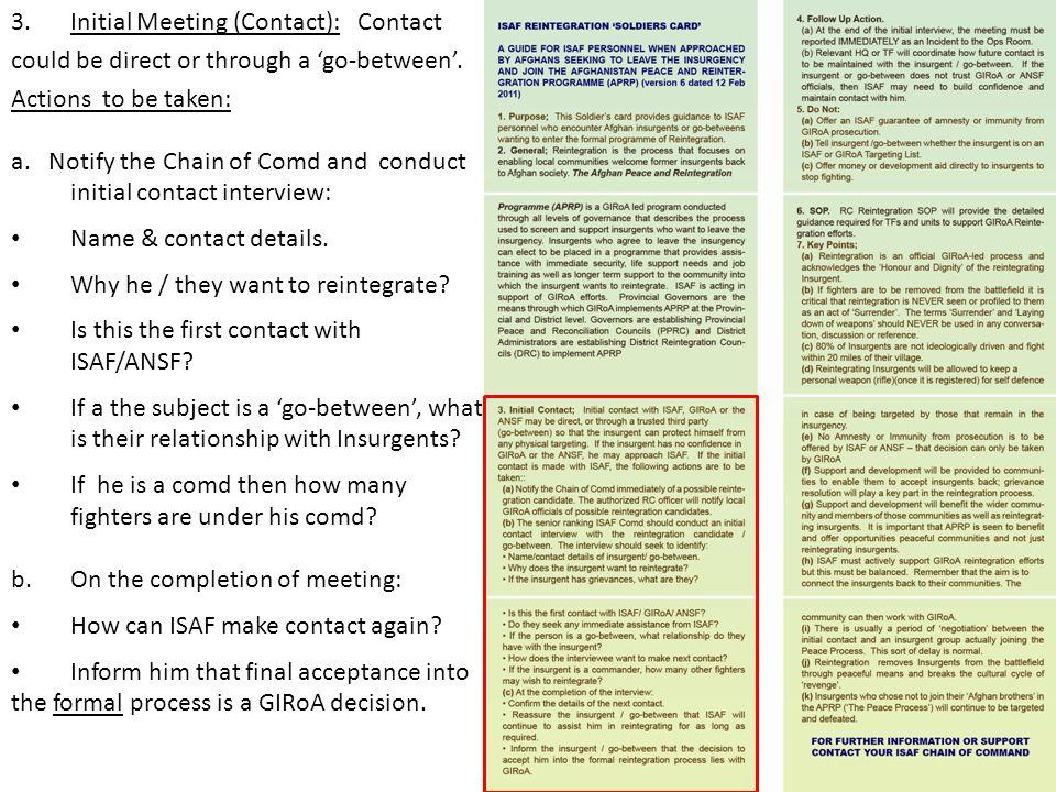 Initial Meeting (Contact): Contact