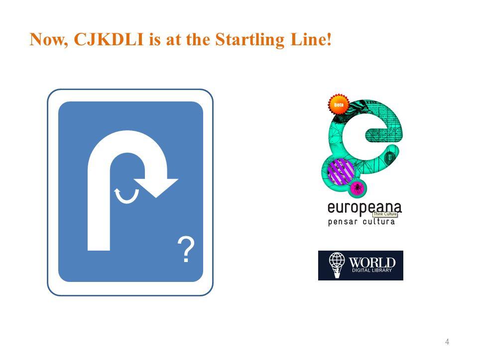 Now, CJKDLI is at the Startling Line!