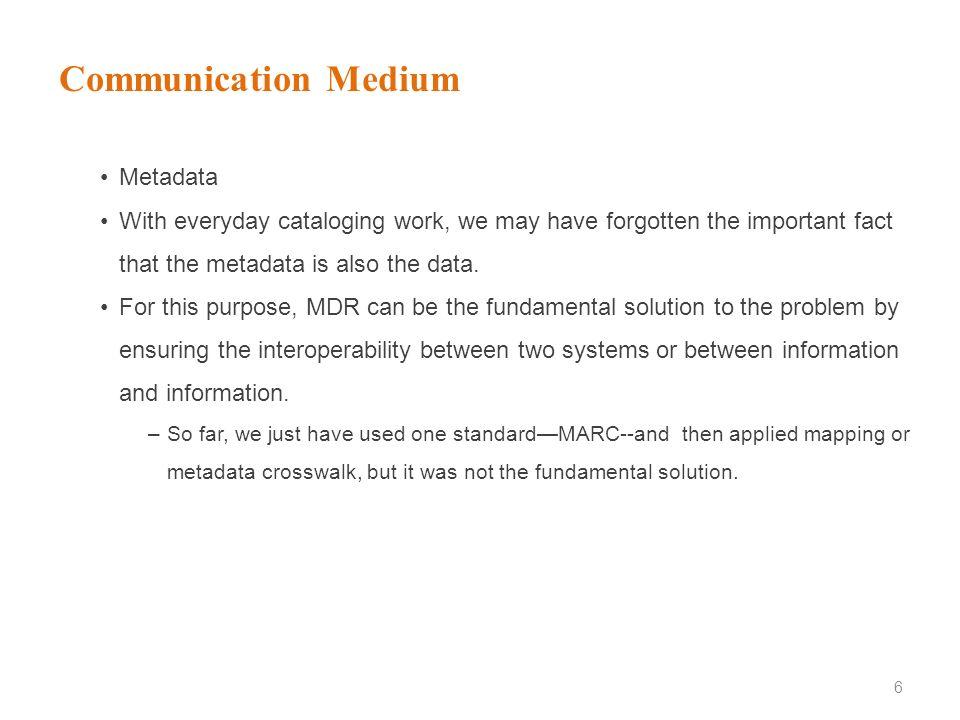 Communication Medium Metadata