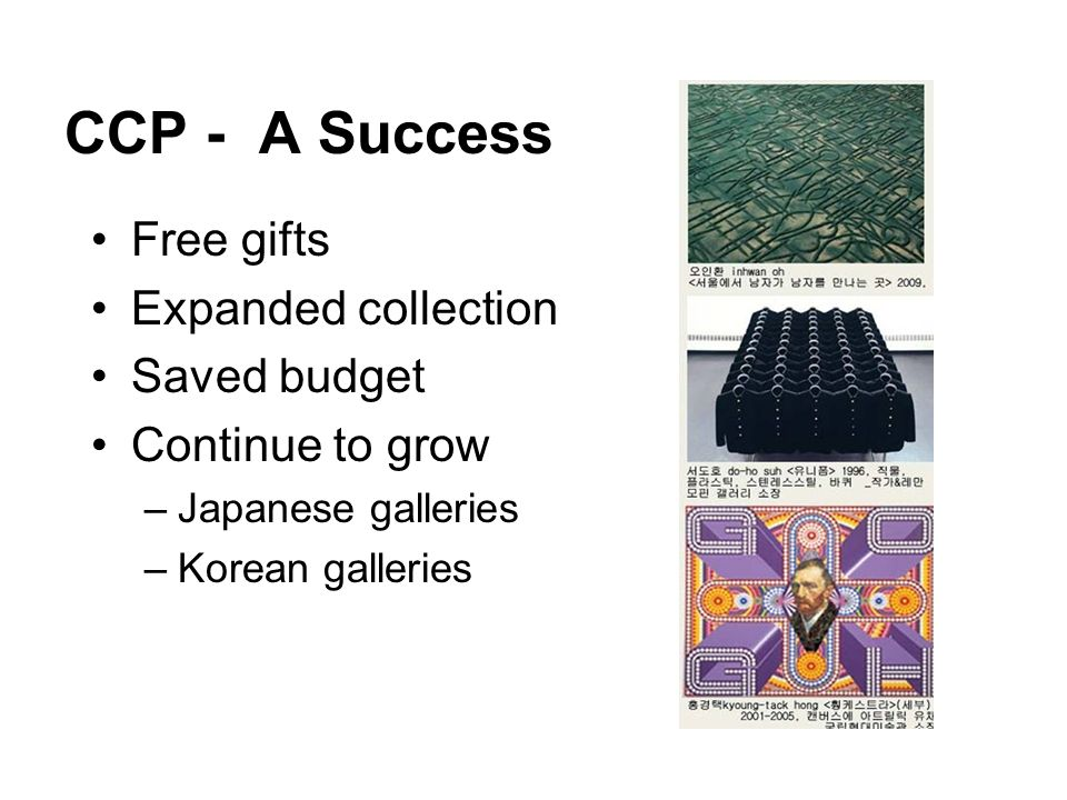 CCP - A Success Free gifts Expanded collection Saved budget