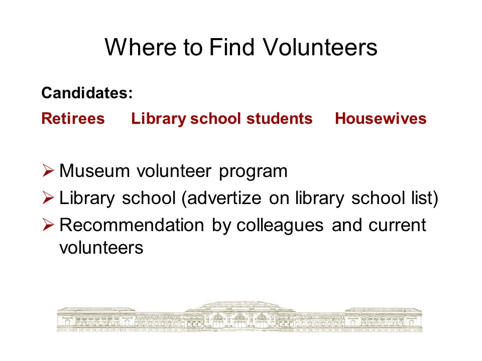 Where to Find Volunteers