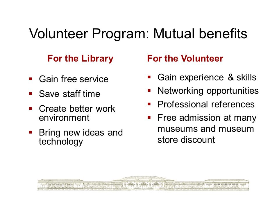 Volunteer Program: Mutual benefits