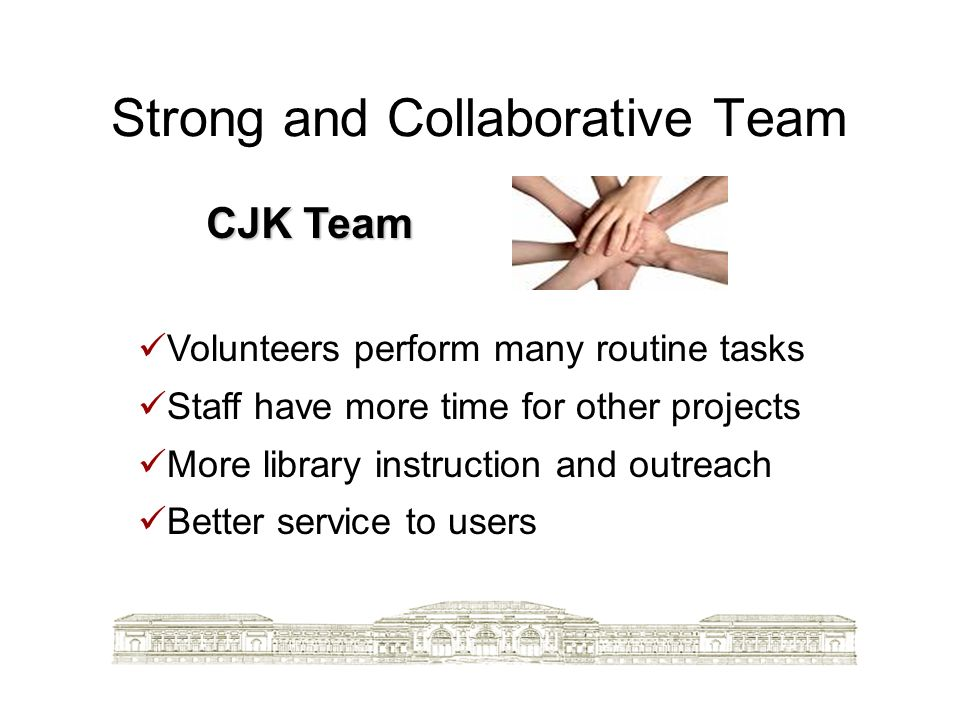 Strong and Collaborative Team