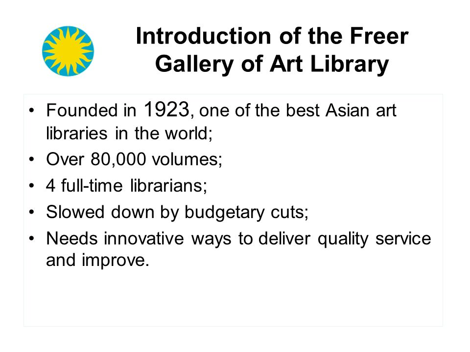 Introduction of the Freer Gallery of Art Library