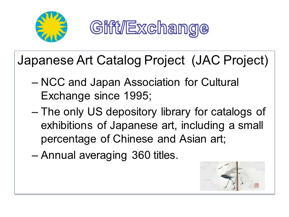 Gift/Exchange Japanese Art Catalog Project (JAC Project)