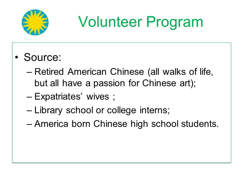 Volunteer Program Source: