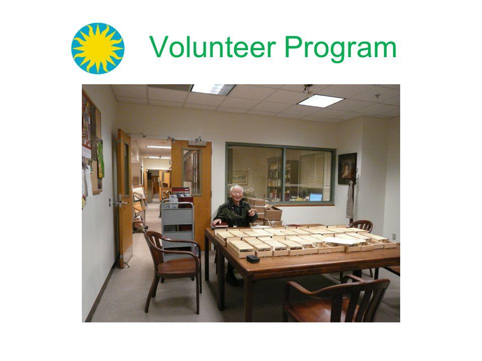 Volunteer Program A picture of one of the senior volunteers. 32