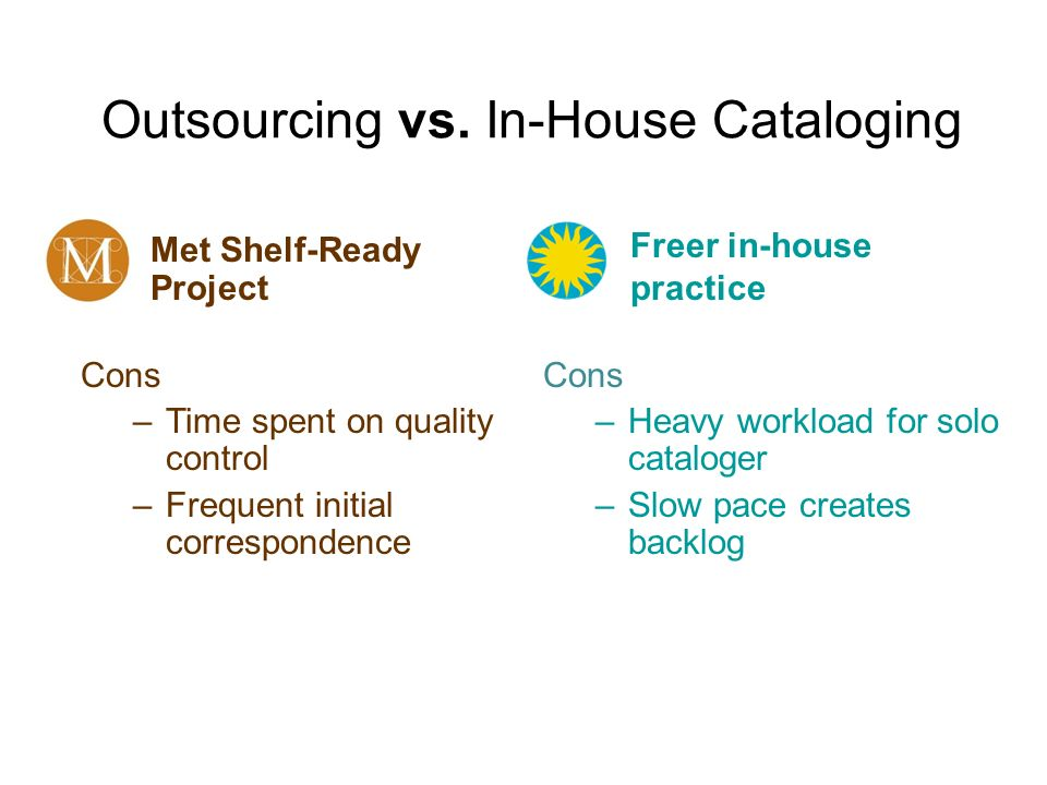 Outsourcing vs. In-House Cataloging