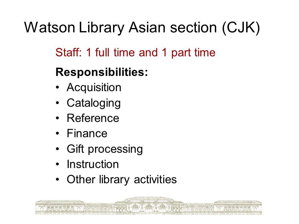 Watson Library Asian section (CJK)
