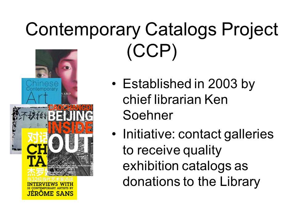 Contemporary Catalogs Project (CCP)