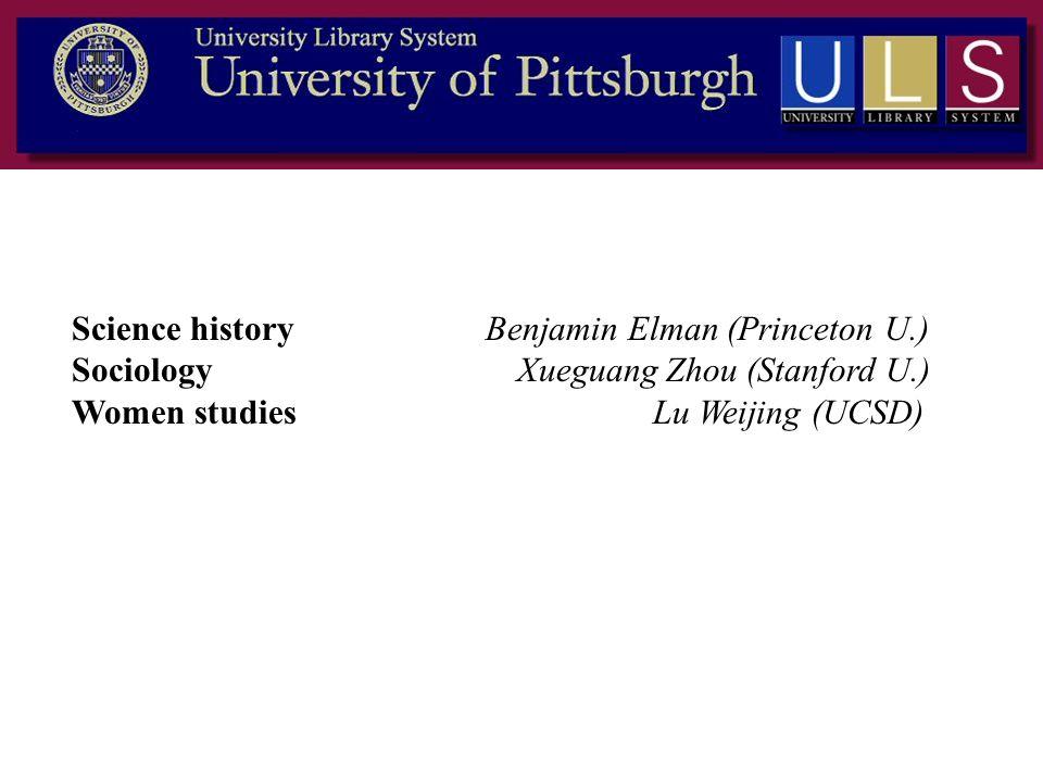 Science history Benjamin Elman (Princeton U