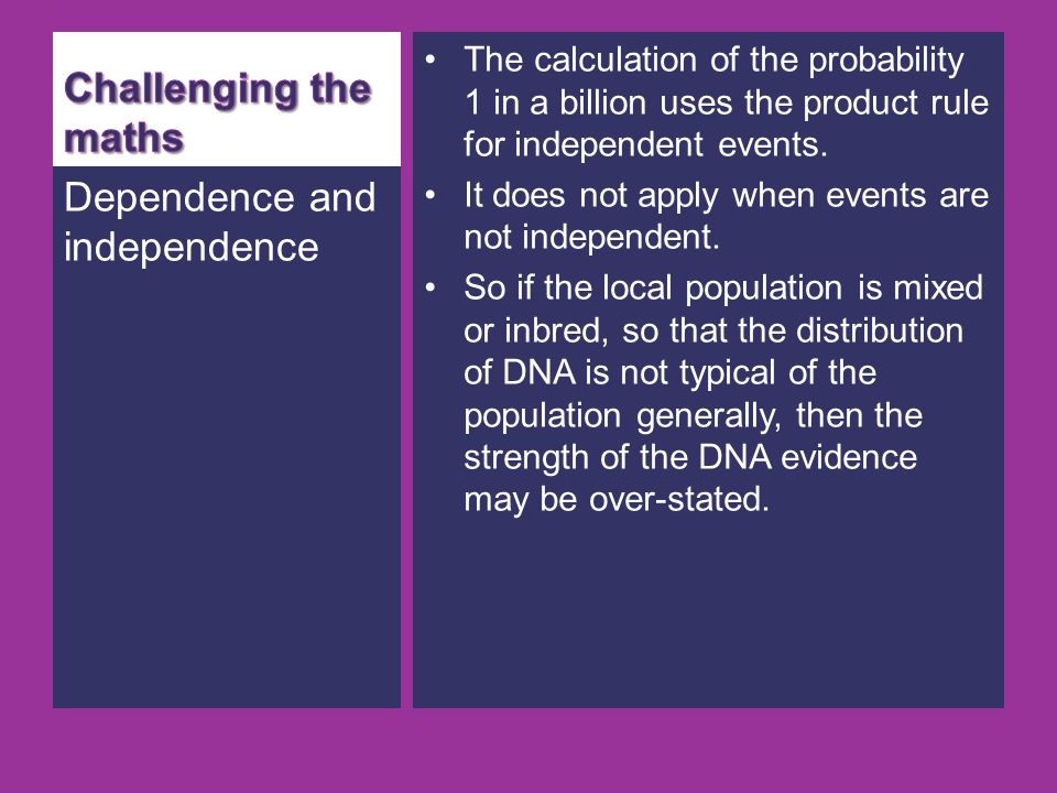 Dependence and independence
