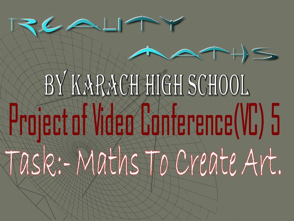 Task:- Maths To Create Art.