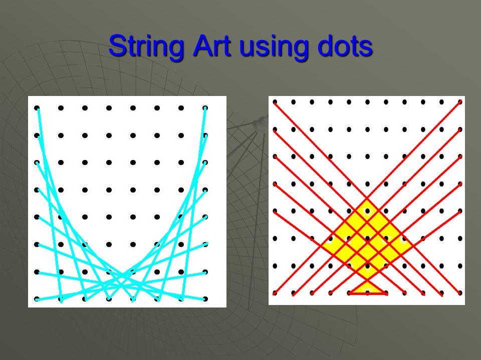 String Art using dots