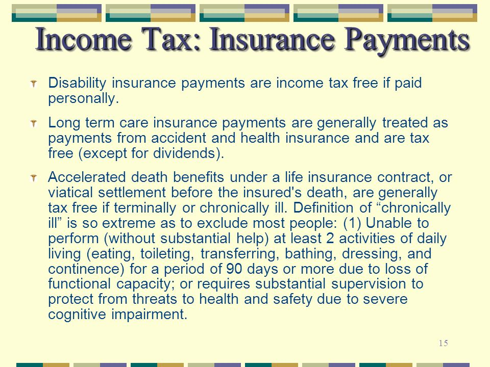 Income Tax: Insurance Payments