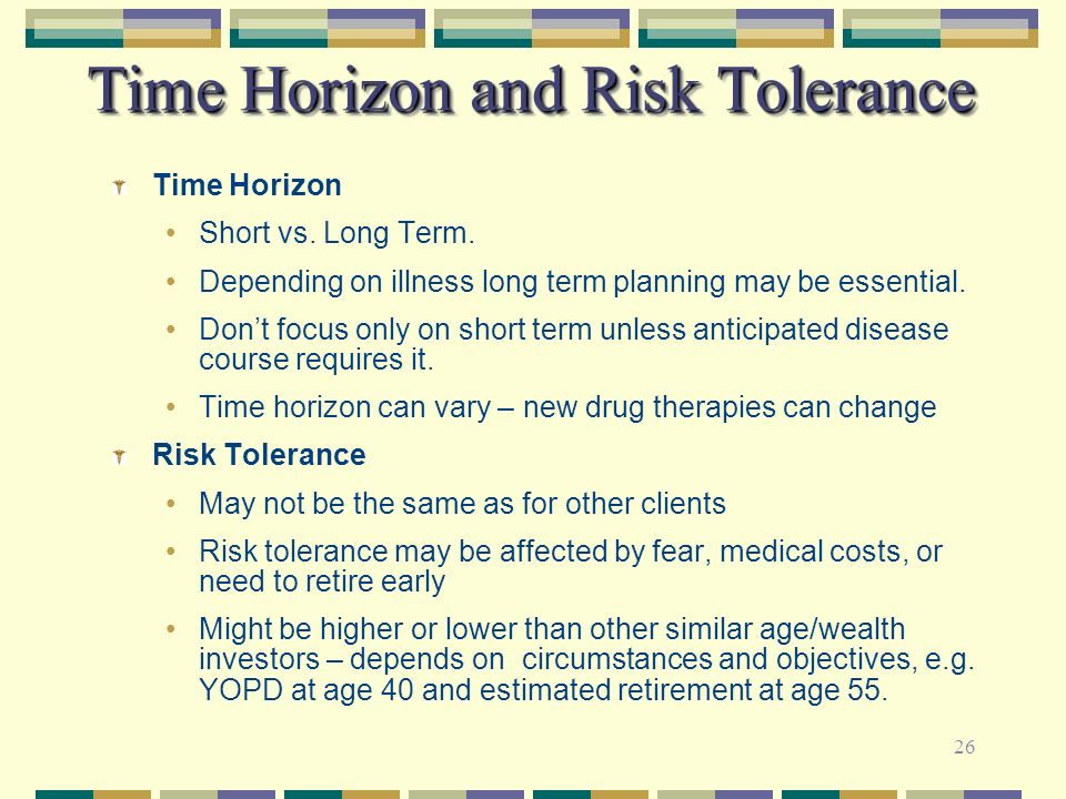 Time Horizon and Risk Tolerance