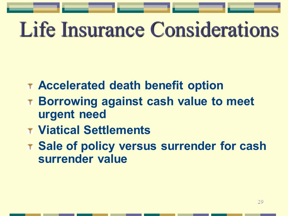 Life Insurance Considerations