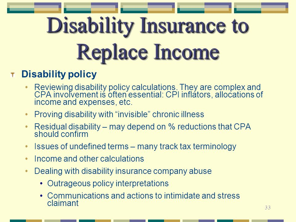 Disability Insurance to Replace Income