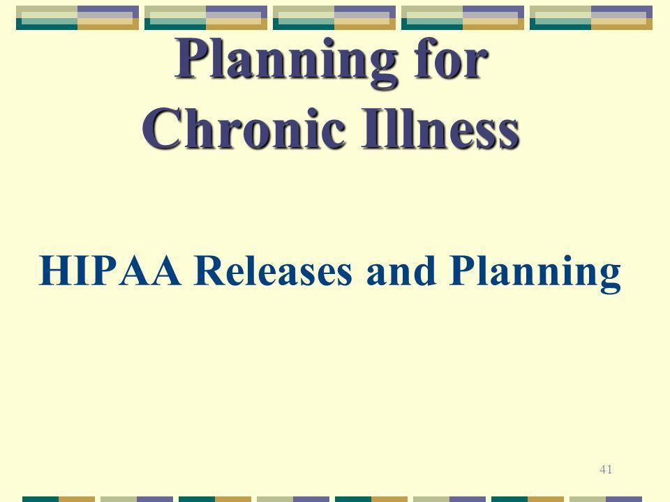 Planning for Chronic Illness
