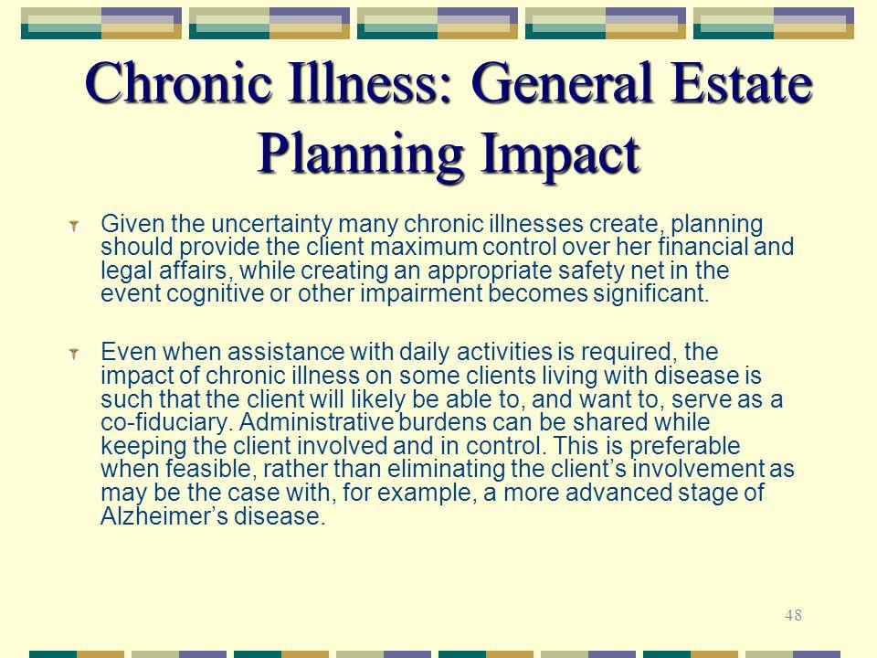 Chronic Illness: General Estate Planning Impact