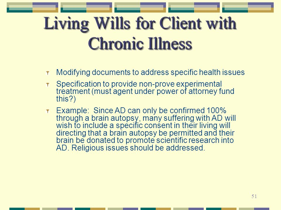 Living Wills for Client with Chronic Illness