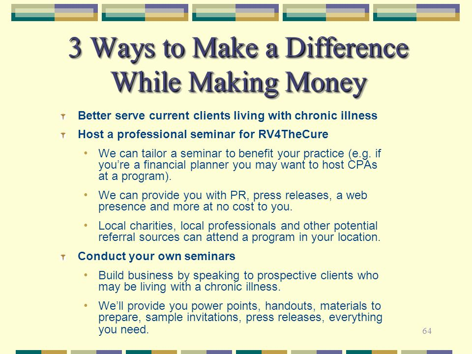 3 Ways to Make a Difference While Making Money