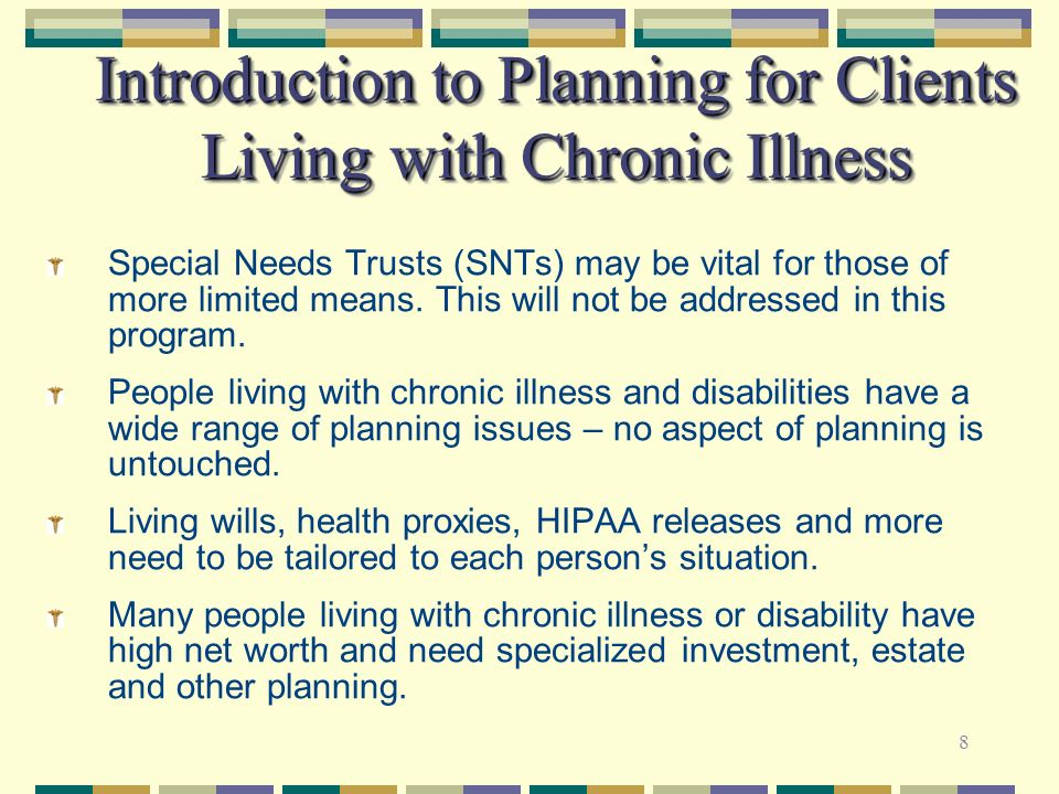 Introduction to Planning for Clients Living with Chronic Illness