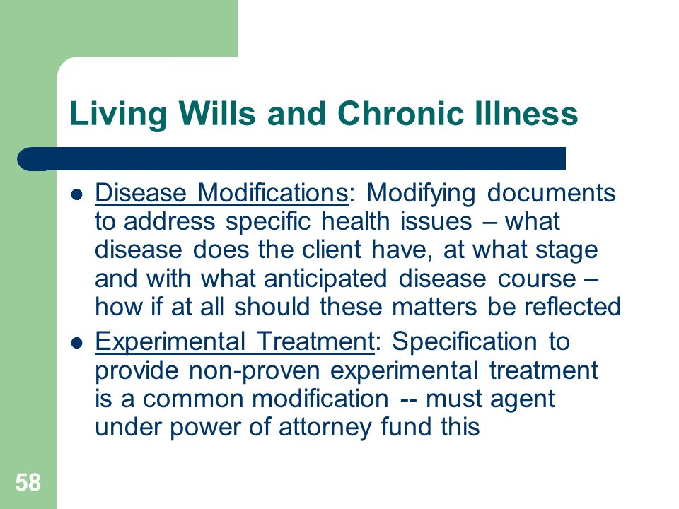 Living Wills and Chronic Illness