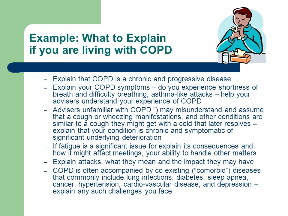 Example: What to Explain if you are living with COPD