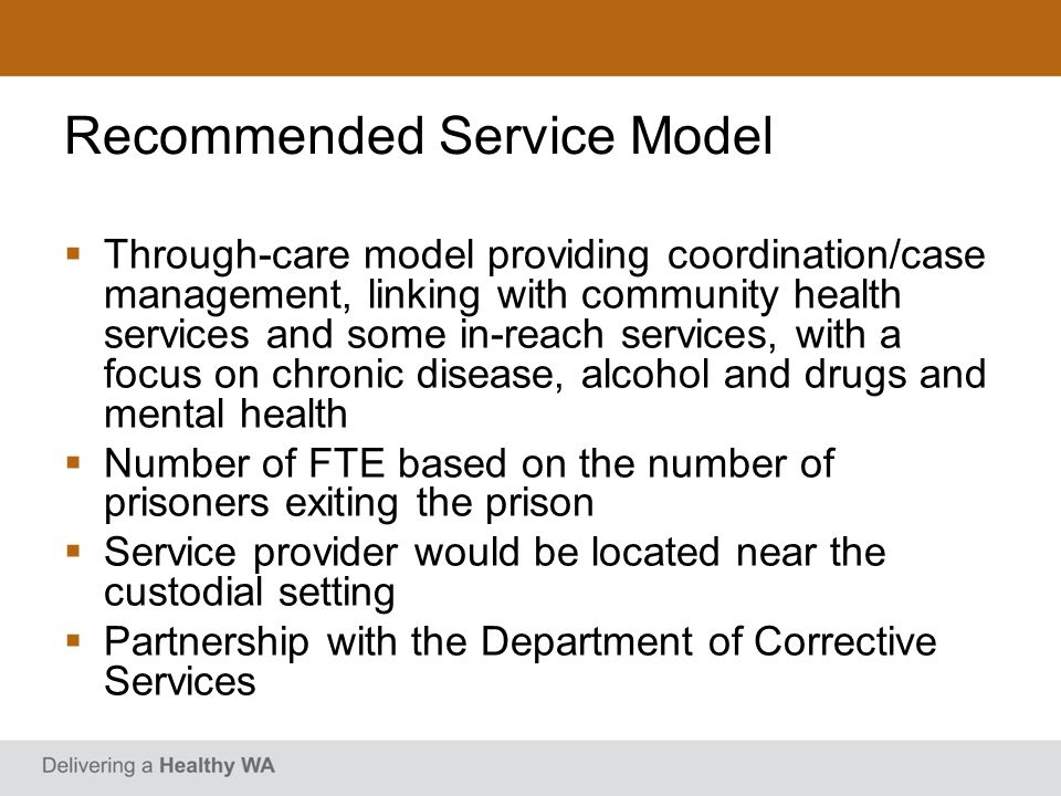 Recommended Service Model