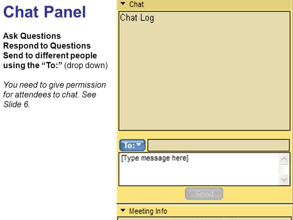 Chat Panel Ask Questions Respond to Questions